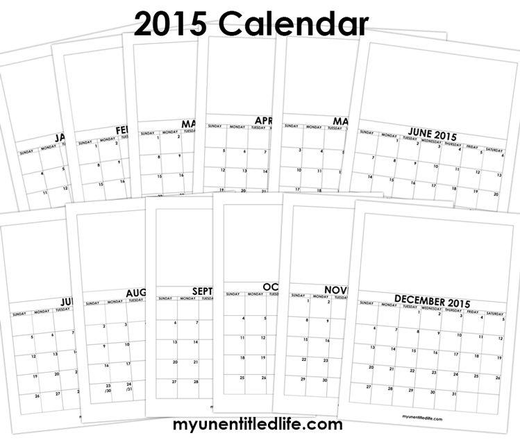 Make a calendar for Christmas or birthday gifts 2015 calendar