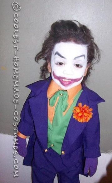 Coolest Old School Joker Costume For A Child Toddler Halloween Costumes Sister Halloween Costumes Twin Halloween Costumes
