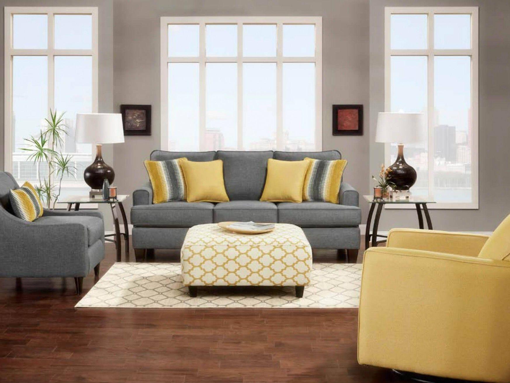 Grey and mustard grey and yellow living room grey