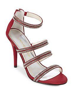 Caparros - Immense Embellished Satin Dress Sandals