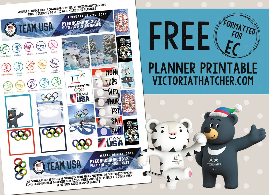 Winter Olympics/Paralympics 2018 Planner Stickers | Free