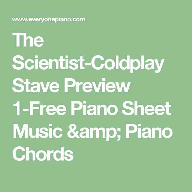The Scientist Coldplay Stave Preview 1 Free Piano Sheet Music
