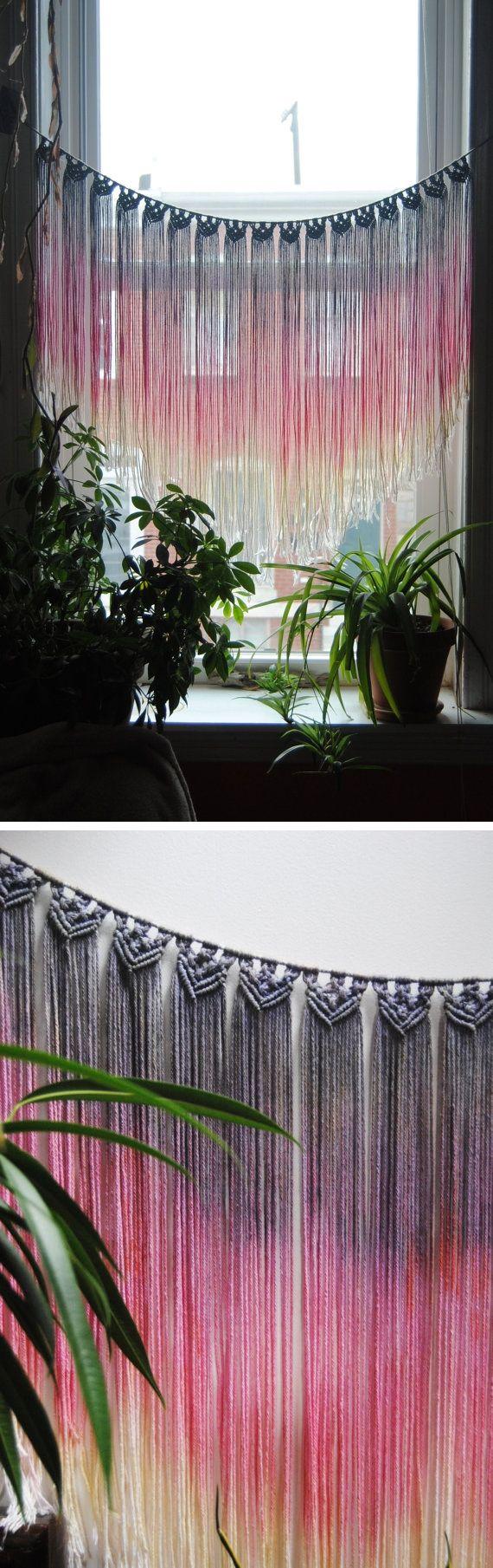 macrame wall hanging diy pinterest basteln h keln und handarbeit. Black Bedroom Furniture Sets. Home Design Ideas