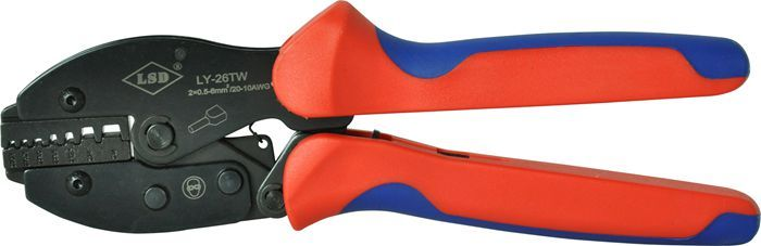 twin cord end terminal crimp tool,2X0 5-6mm2,cable ferrules