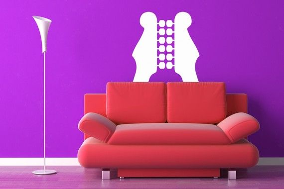 Guitar Necks Mirrored - Vinyl Wall Art Decal