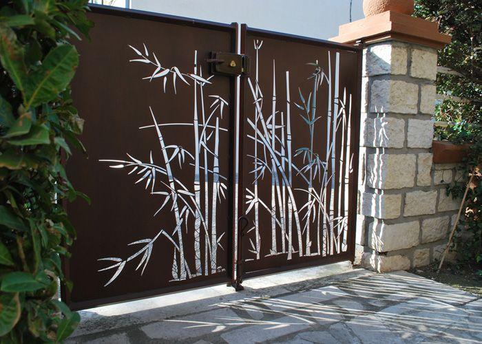 portail bambou driveway gate pinterest gate gates and fences. Black Bedroom Furniture Sets. Home Design Ideas