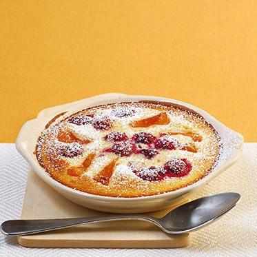Aprikosen-Kirsch-Clafoutis Rezept | Küchengötter