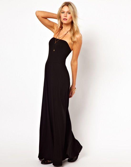 Robe maxi longue noire