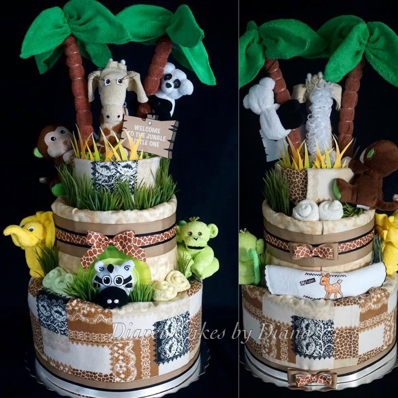 Jungle Themed Diaper Cake Www Facebook Com Diapercakesbydiana