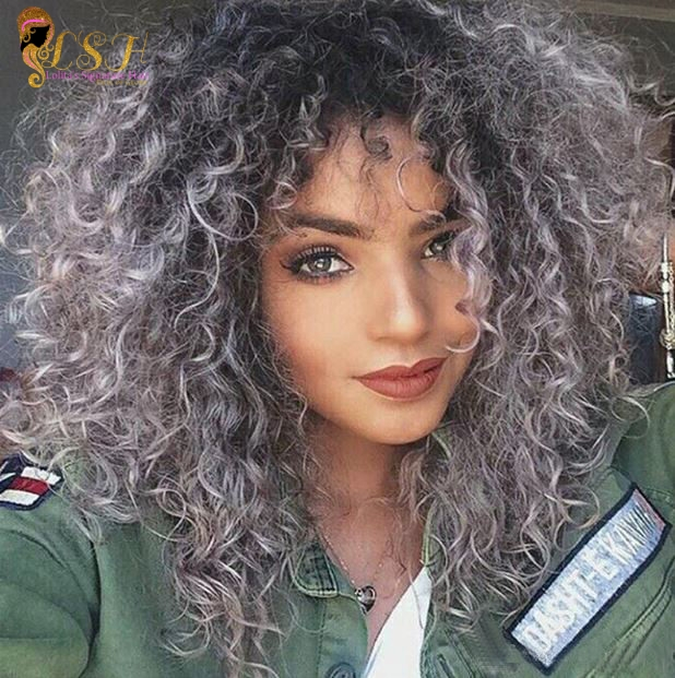 Dark Grey Ombre Lace Front Short Bob Wigs Curly Colored Human Hair Wigs Peruvian Virgin Hair 1b Curly Hair Styles Naturally Ombre Curly Hair Curly Hair Styles