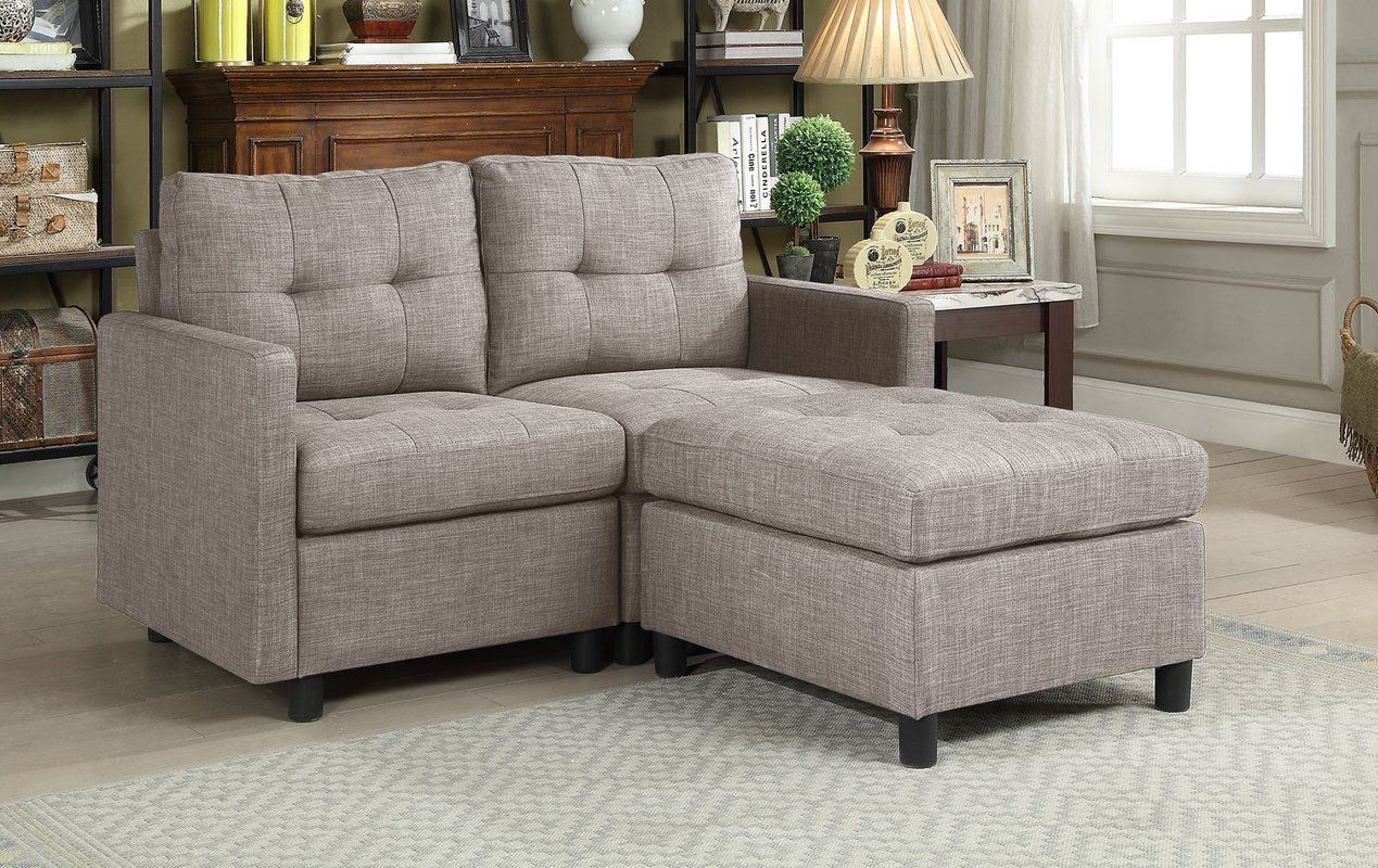 Wetherby 52 Reversible Sofa Chaise With Ottoman Modular Sectional Sofa Sectional Sofa Modular Sectional
