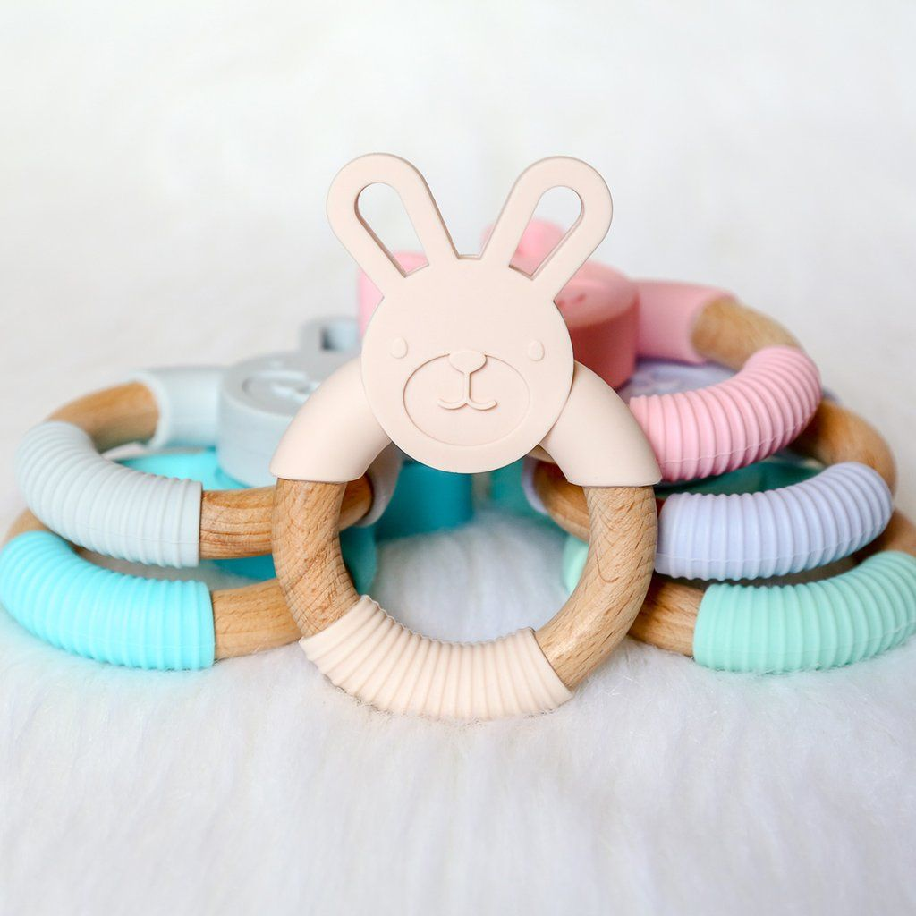 Baby teether silicone food grade silicone organic