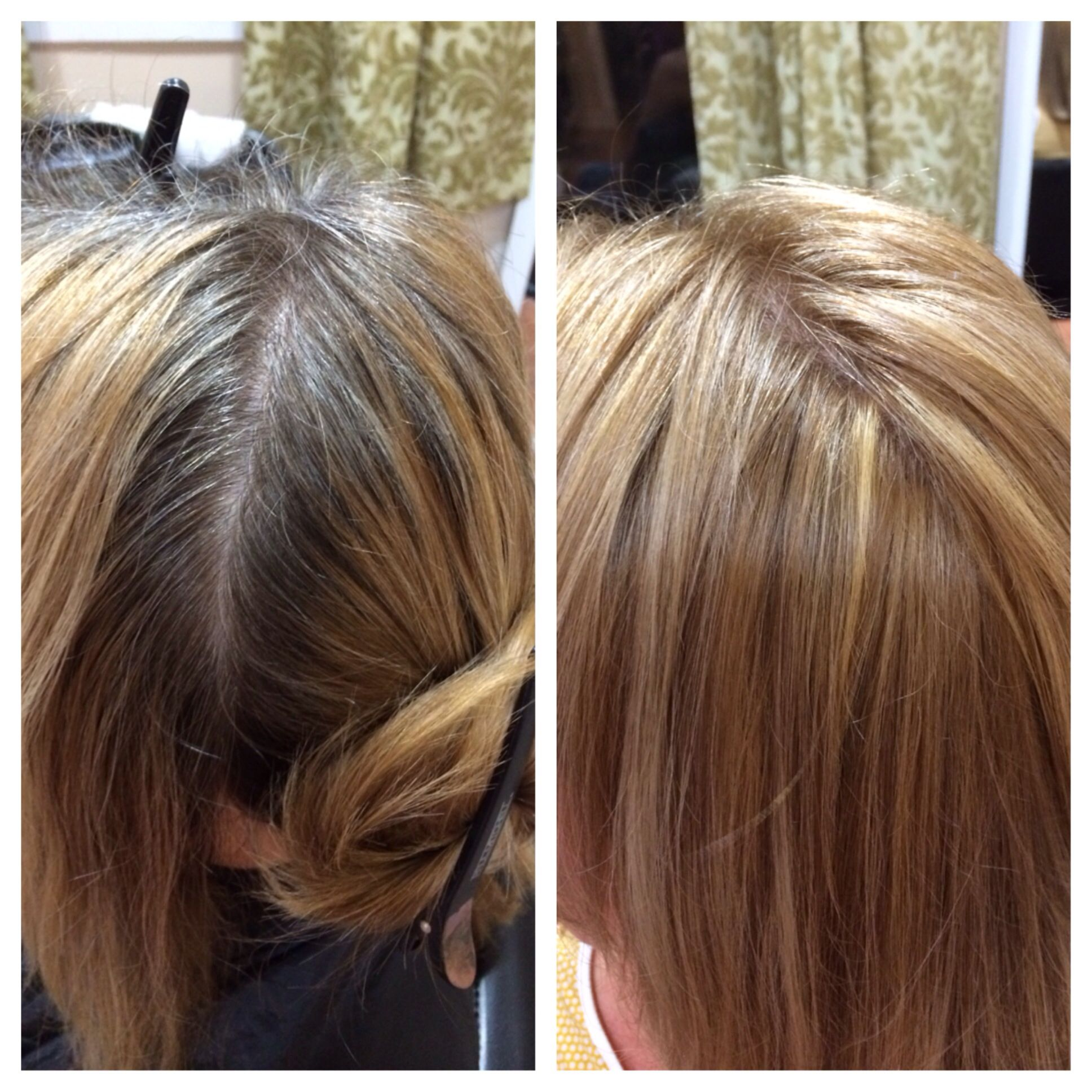 Before And After Grey Coverage Paul Mitchell N9n9 And Syncro