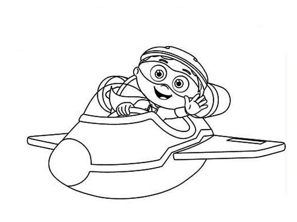 Whyatt Ride Little Airplane In Superwhy Coloring Page Coloring Sky Coloring Pages Color Super Why