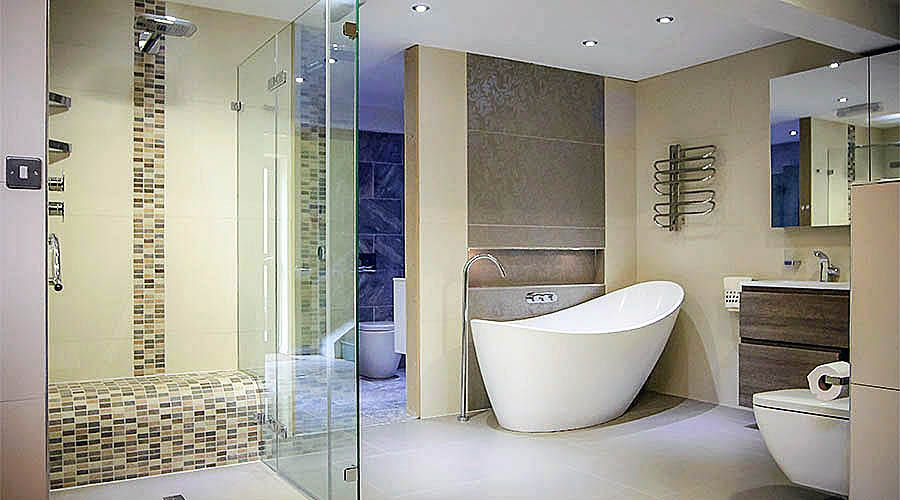 A Large Frameless Glass Shower Enclosure With Wetroom Floor And Tiled Seat For Year On Style Bathroom 2016 Designer