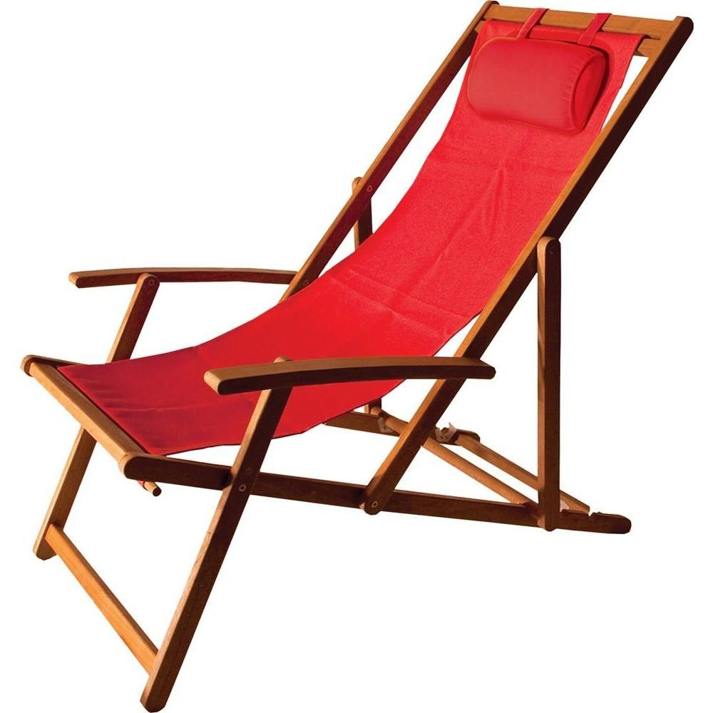 Admirable Arboria Islander Folding Sling Patio Chair Wood Is Natural Pabps2019 Chair Design Images Pabps2019Com
