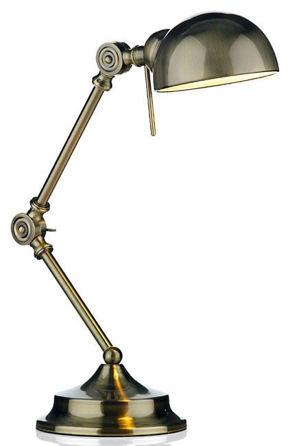 Wonderful antique brass fully adjustable desk lamp that would be a useful  and stylish feature for - Ranger Art Deco Style Antique Brass Desk Lamp In 2018 Light Up