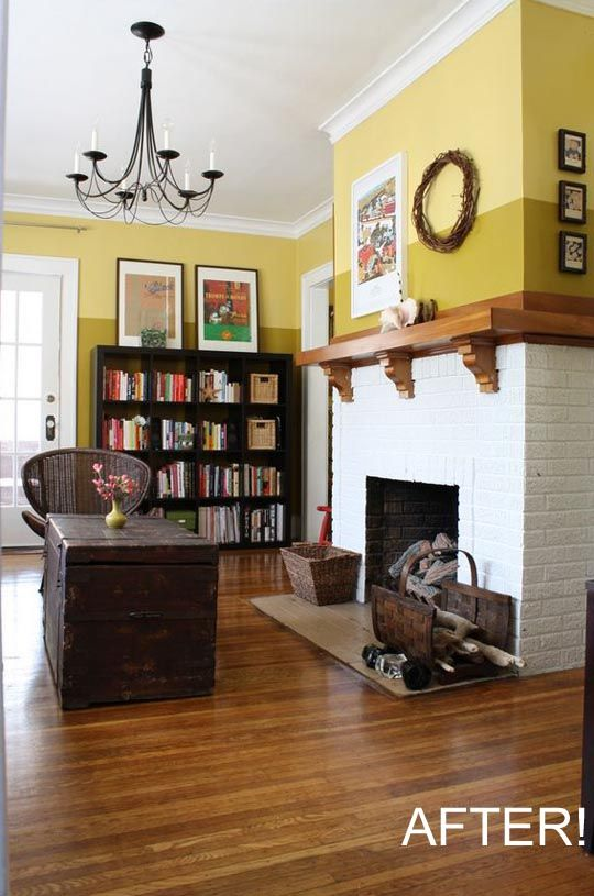 Before After Emily Dresses Up Her Hearth Home Stylish Living Room Living Room Transformation Home Living Room