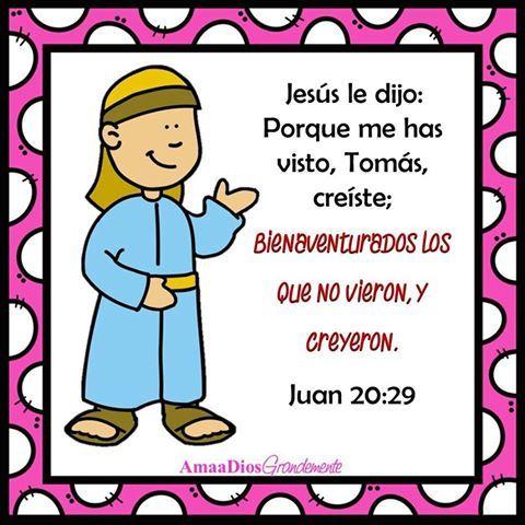Lunes ⛺️ L e c t u r a : Juan 20:24-29 Tomás Duda Del Señor ...