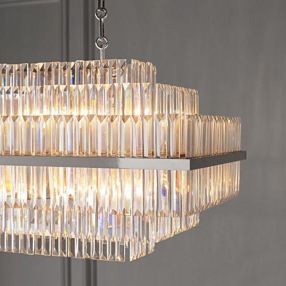 vienna 32 linear crystal chandelier