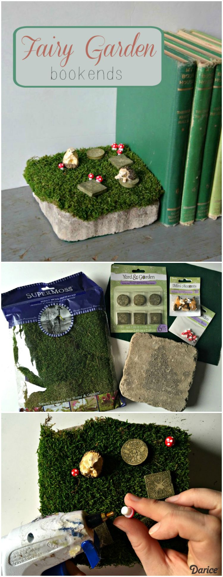 Diy Fairy Garden Decor Bookends Darice Fairy Garden Accessories 400 x 300