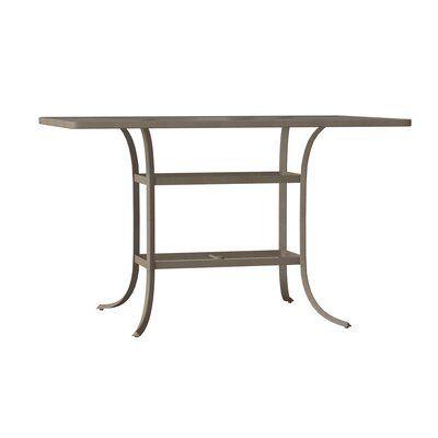 Tropitone Valora Plastic Resin Bar Table Metal Dining Table
