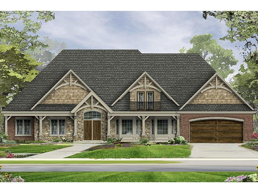 Craftsman Style House Plan 3 Beds 2 Baths 3278 Sq Ft Plan 1057 6 Craftsman Floor Plans Dream House Plans Ranch Style House Plans