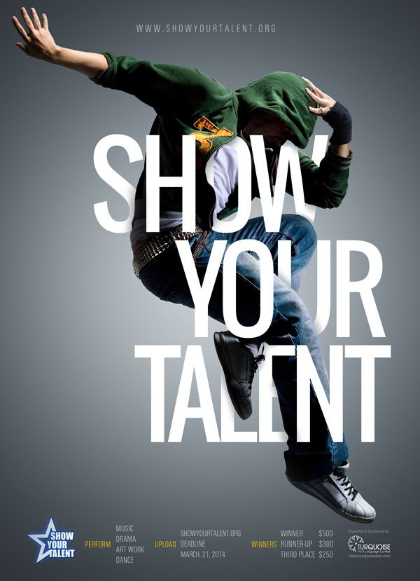 Show Your talent Poster by Ismail Abay    showyourtalentorg - talent show flyer