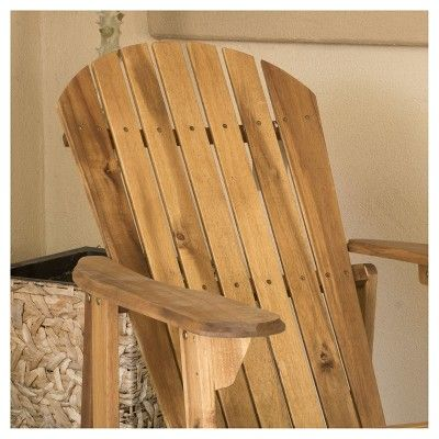 Hanlee Set Of 2 Folding Wood Adirondack Chair Natural