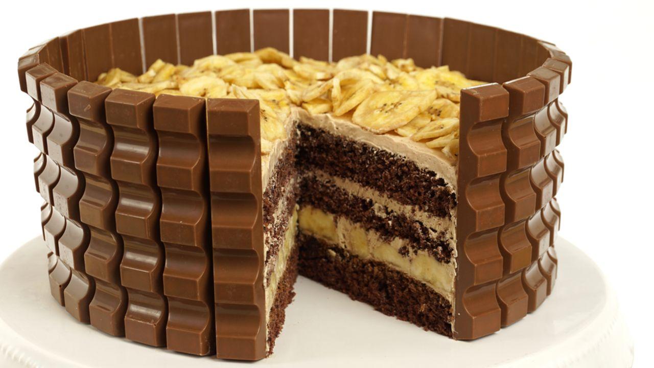 Kinderschokoladentorte Mit Banane Rezept Schokoladen Torte Kinder Schokolade Backparty