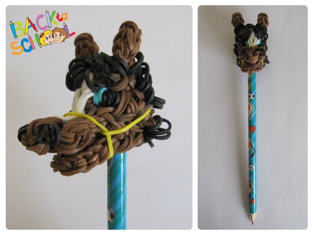 Rainbow Loom Horse Pencil Topper Loombicious Pencil