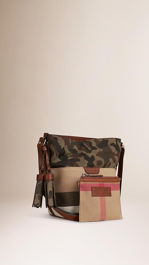 Russet brown The Small Ashby in Canvas Check and Camouflage - Image 4
