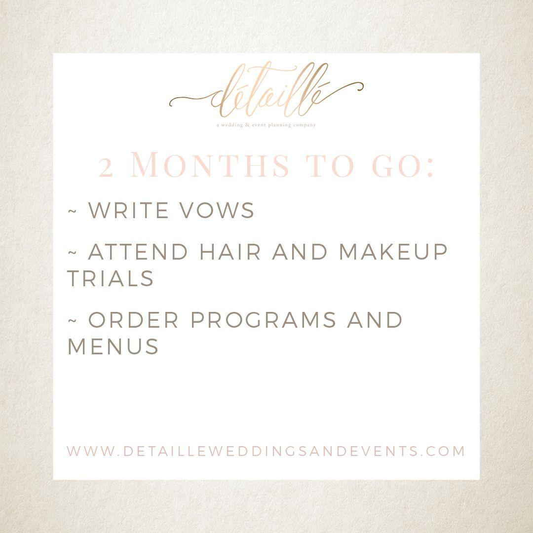 Detaille Weddings Events Wedding Checklist Makeup Trial Wedding Events