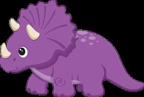 Purple Dinosaur Clipart