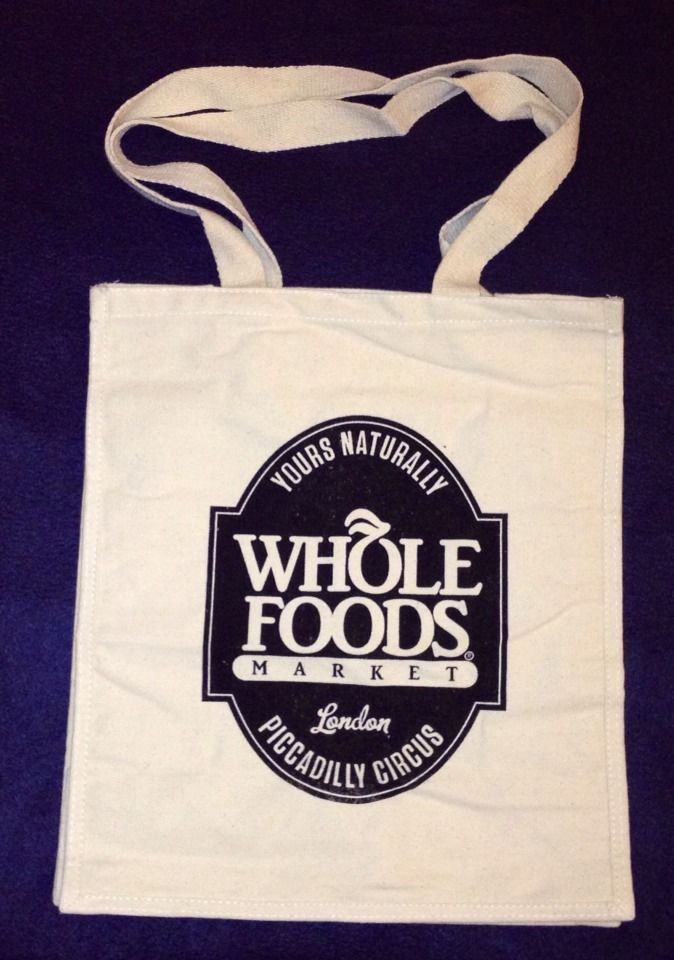 Whole Foods London Piccadilly Circus Reusable Tote Bag Uk New Cotton Eros Neon