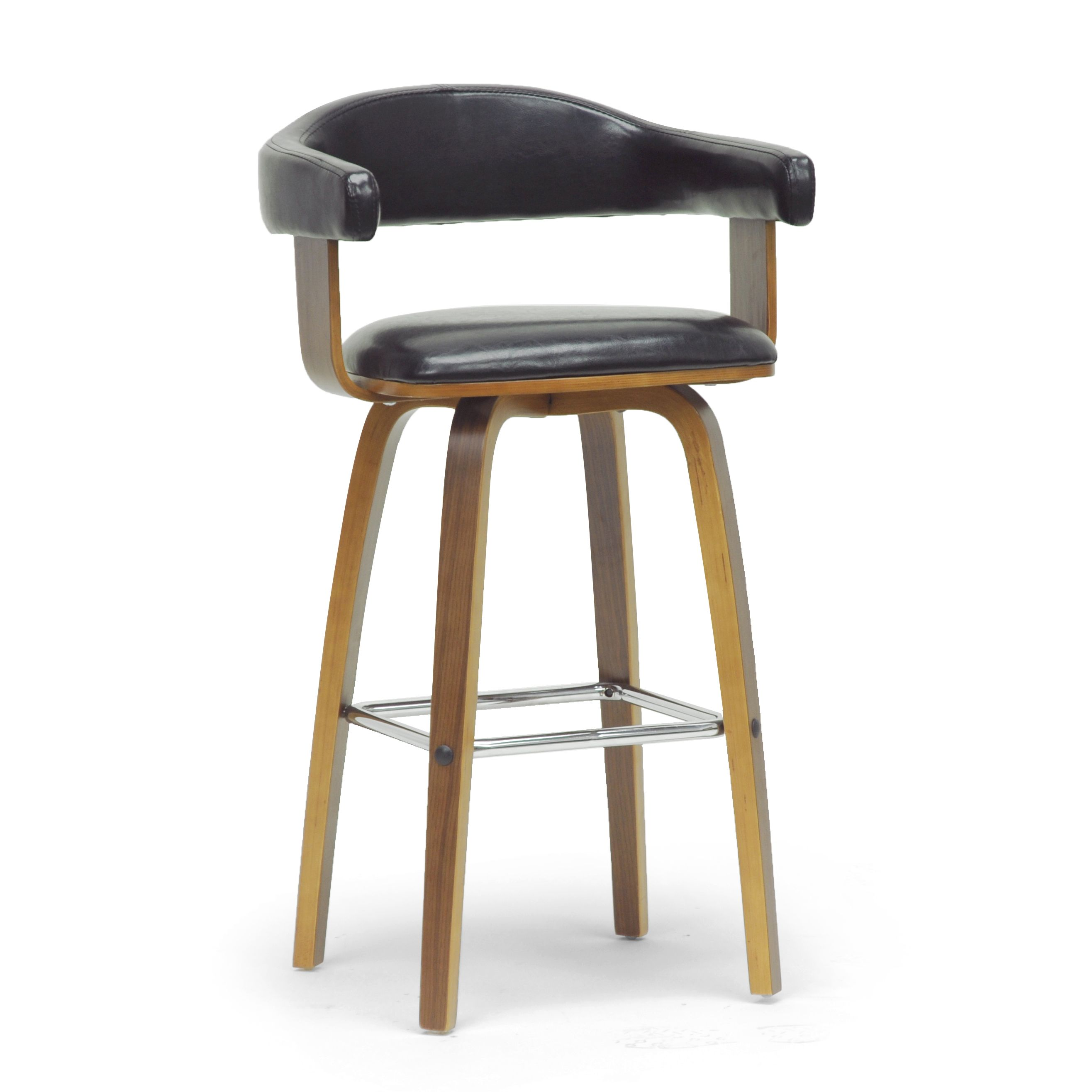 Modern Brown And Black 24 32 Adjustable Bar Stool By
