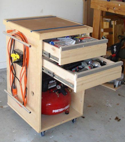 compressor bench tool misc crap cabinet by estley woodworking community. Black Bedroom Furniture Sets. Home Design Ideas