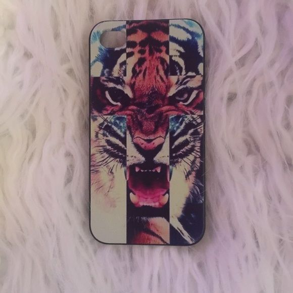 Tiger iPhone 4s case Tiger/cross iphone 4s case. Multicolor, like new. Accessories Phone Cases