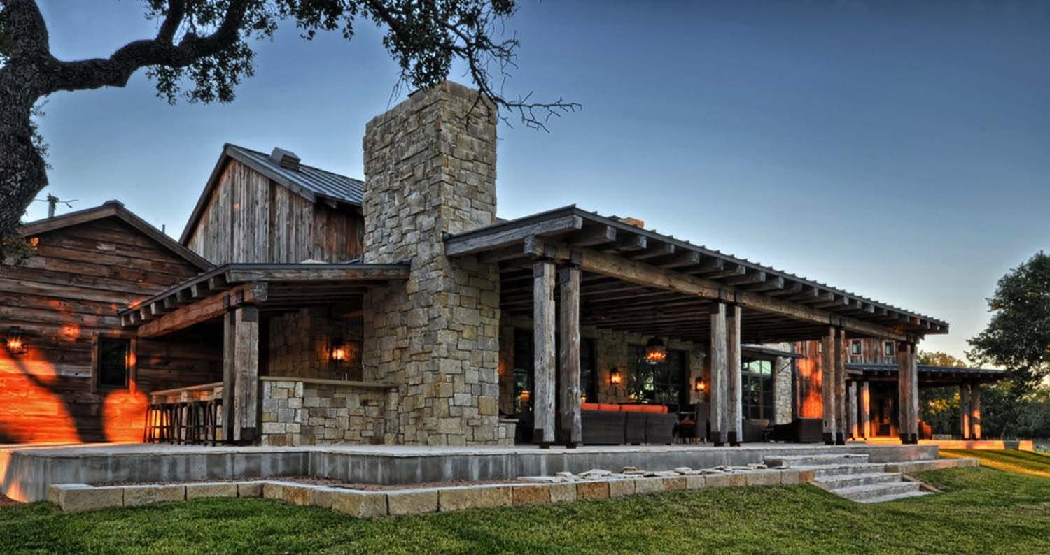 Modern rustic barn style retreat in Texas Hill