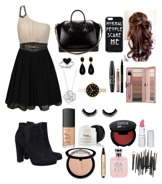 """Club look"" by aleena2400 ❤ liked on Polyvore featuring beauty, Little Mistress, Givenchy, Kevin Jewelers, BERRICLE, Marc by Marc Jacobs, NYX, Urban Decay, NARS Cosmetics and HoneyBee Gardens"