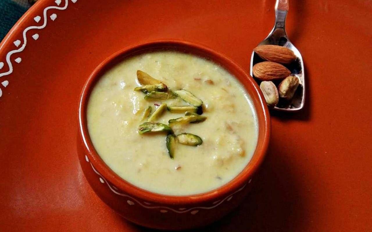 Cottage Cheese Milk Pudding | Recipe | Kheer recipe ...