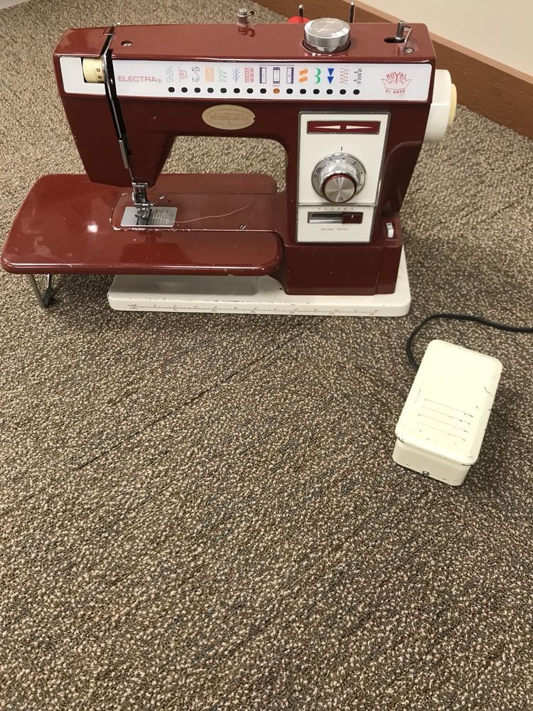 Vintage NecchiAlco Royal XL40 Sewing Machine Made In Japan Simple Old Necchi Sewing Machine