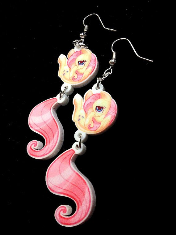 MLP  My Little Pony Earrings  Fluttershy by mmisheesstore on Etsy, $15.00