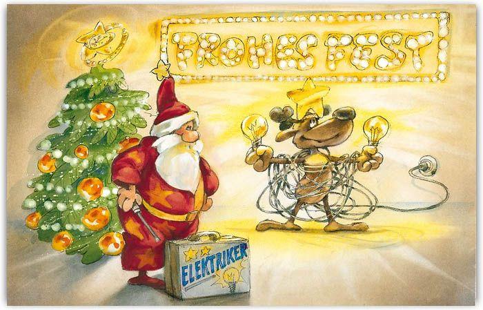 firmenweihnachtskarte branchenkarte f r elektriker mit weihnachtsgru weihnachtsgr e