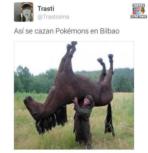 Pokémon en Bilbao se cazan así