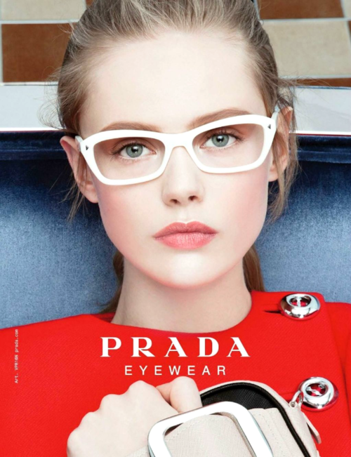 ee3b75e3e30a Frida Gustavsson for PRADA Eyewear. Hey! i think i recognize this pair of  glasses!