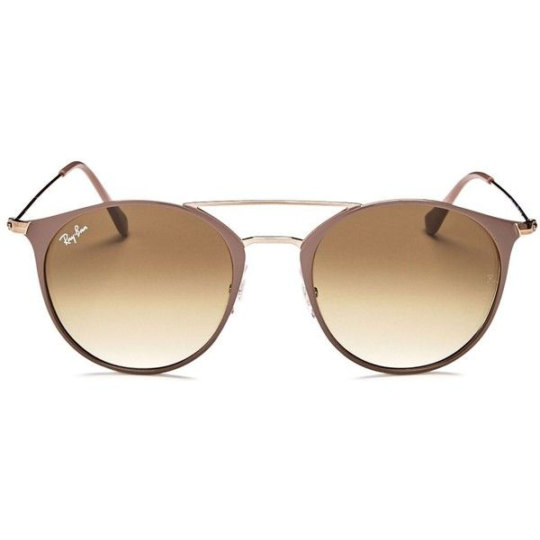 60eafd49eb Ray-Ban Highstreet Brow Bar Round Sunglasses