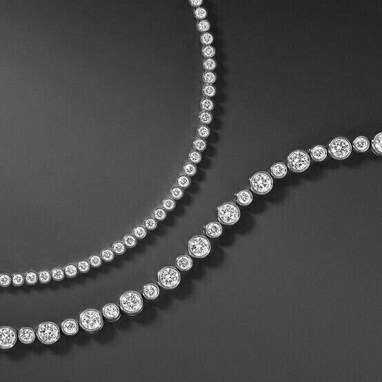 4541e1bdd □ TIFFANY | JAZZ NECKLACE | basics | Diamond bracelets, Tiffany ...