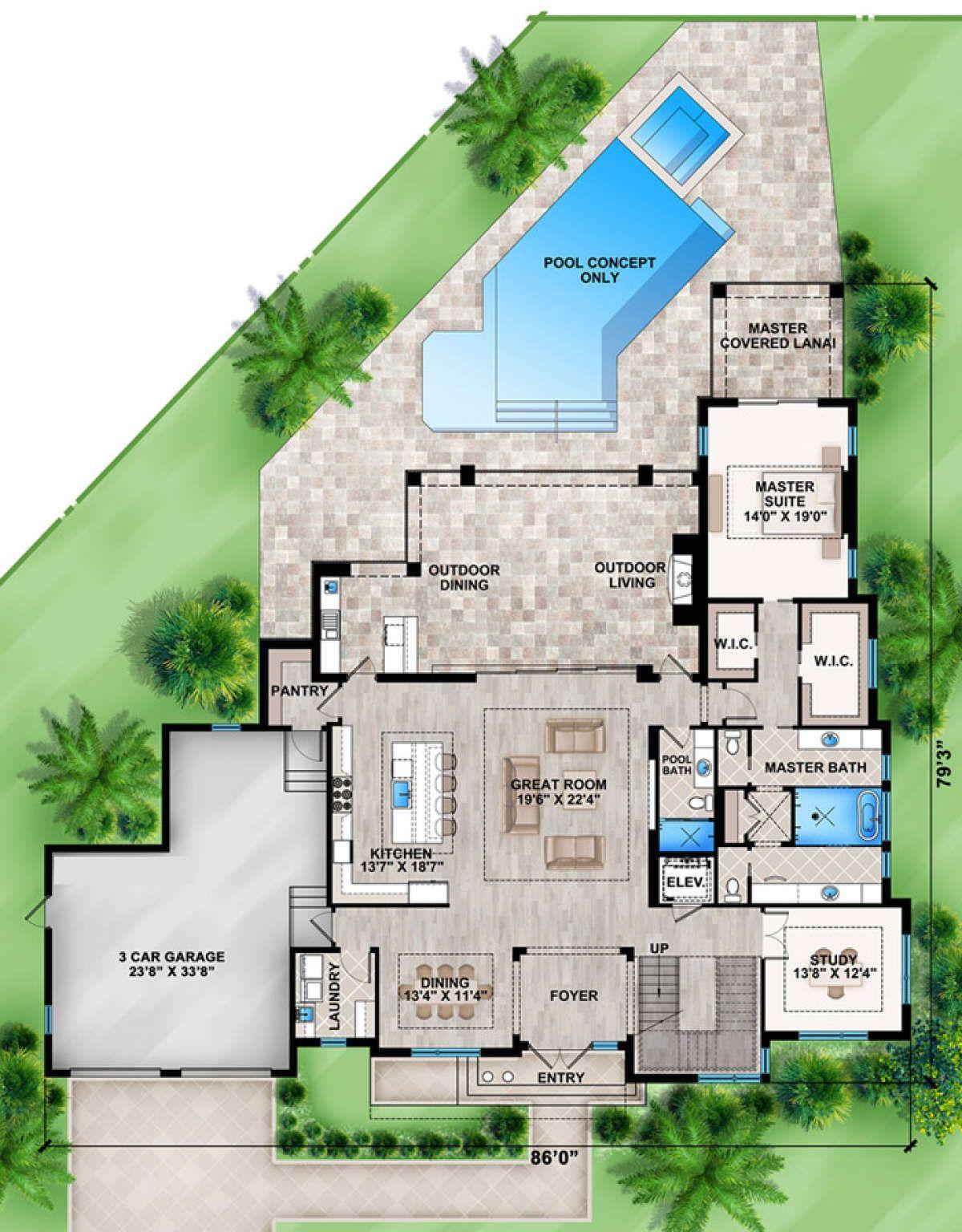 House Plan 207 00022 Contemporary Plan 4 368 Square Feet 4 Bedrooms 5 Bathrooms In 2020 Contemporary House Plans Modern Contemporary House Plans Modern Style House Plans