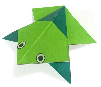 Origami A Frog Instructions Easy Origami Instructions For Kids
